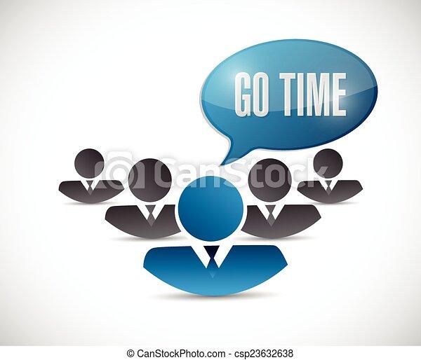 temps, illustration, conception, équipe, aller, message - csp23632638