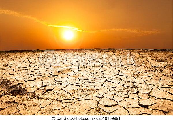 temps, sécheresse, terre, chaud - csp10109991