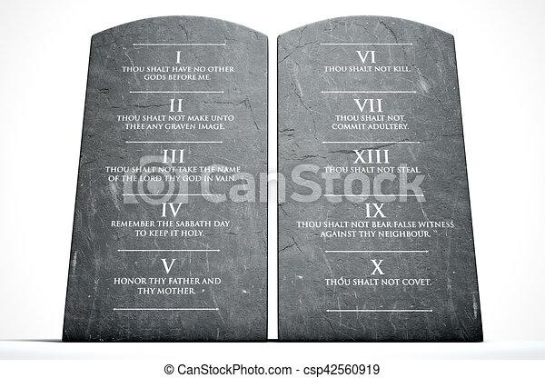 Ten Commandments - csp42560919