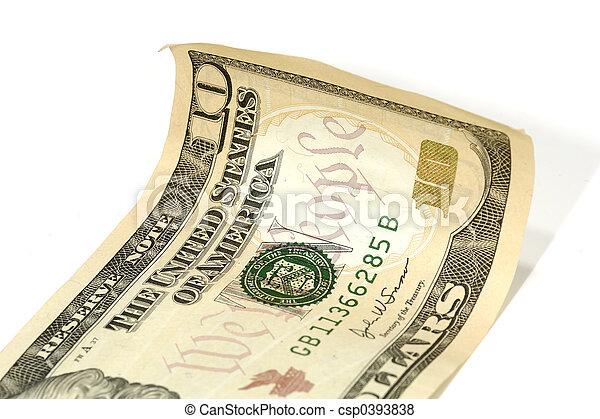 Ten Dollar Bill - csp0393838
