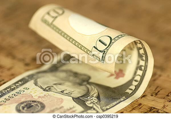 Ten Dollar Bill - csp0395219