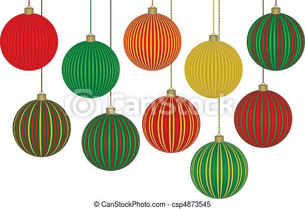 Ten Fabulous Christmas Ornaments - csp4873545