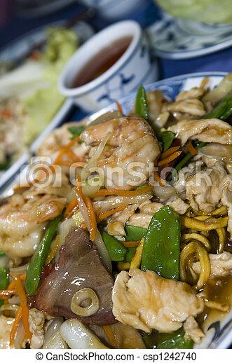 ten igredient sea food chinese - csp1242740