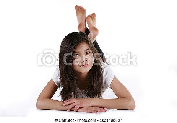 ten year old girl - csp1498687