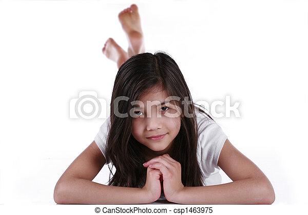 ten year old girl - csp1463975