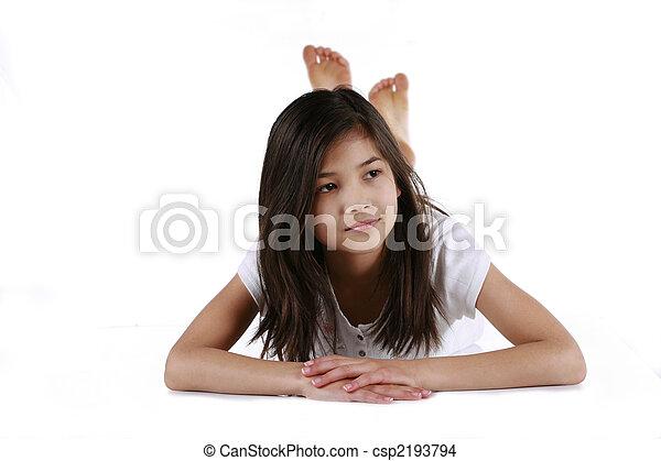 ten year old girl - csp2193794