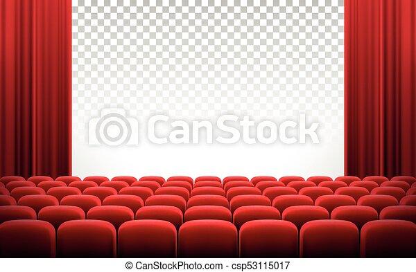 Teatro Le Sedie.Tenda Teatro Cinema Sedie Schermo Bianco Rosso