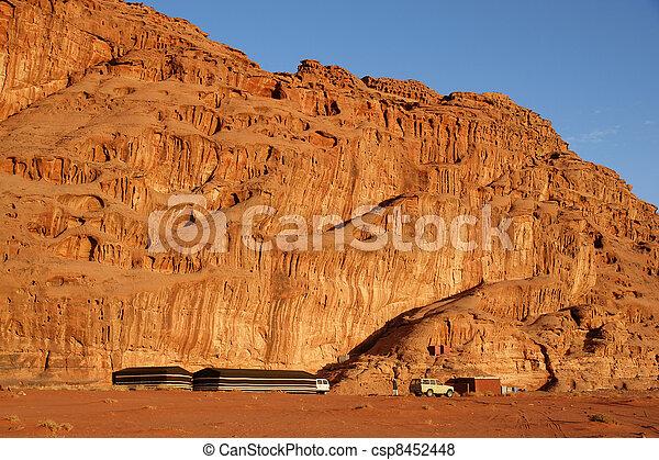 Tended camp in Wadi Rum - csp8452448