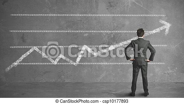 tendencia, hombre de negocios, compañía - csp10177893