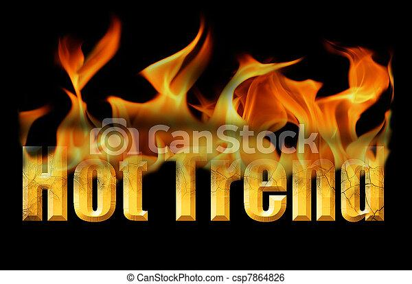 Tendenz, text, heiß, wort, feuer. Feuer, wort, dieser, text ...