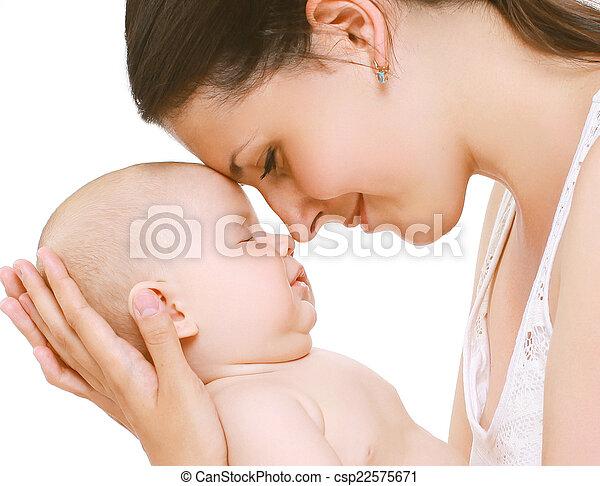 tendre, sommeil, bébé, maman - csp22575671