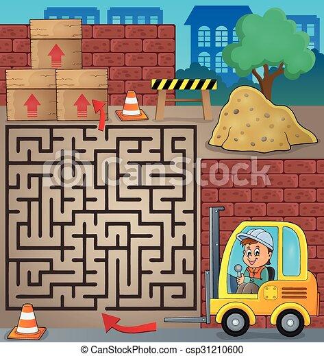 Maze 3 con temática del camión elevador - csp31210600