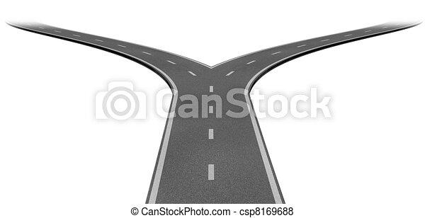 Un tenedor en la carretera - csp8169688