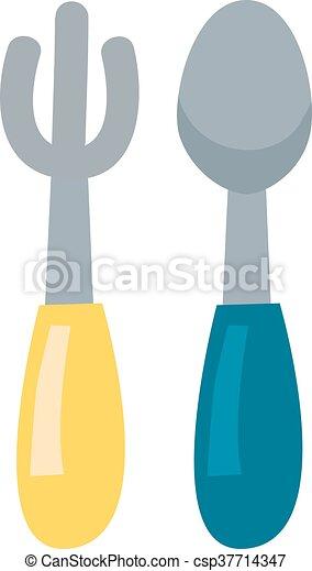 Vector de restaurantes de tenedor y cuchara - csp37714347