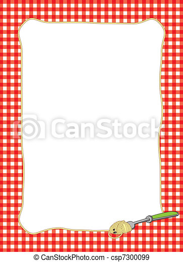 tenedor, marco, espaguetis, giro - csp7300099