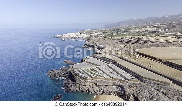 Tenerife coast with Banana cultivations, Spain - csp43392014
