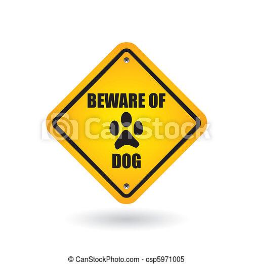Cuidado con la señal de perro - csp5971005