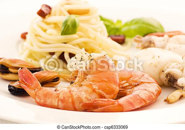 tenger gyümölcsei, spagetti - csp6333069