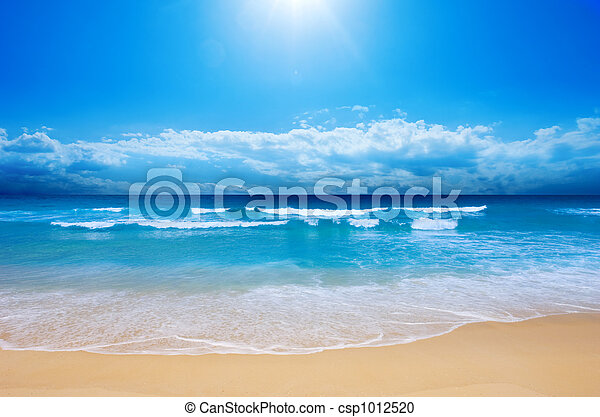 tengerpart, paradicsom - csp1012520