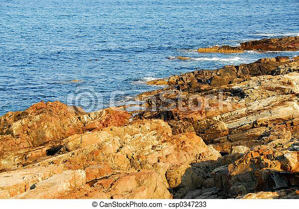 tengerpart, sziklás - csp0347233
