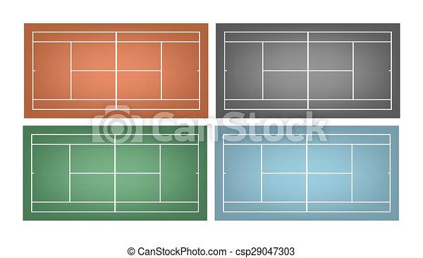 Un juego de pistas de tenis - csp29047303