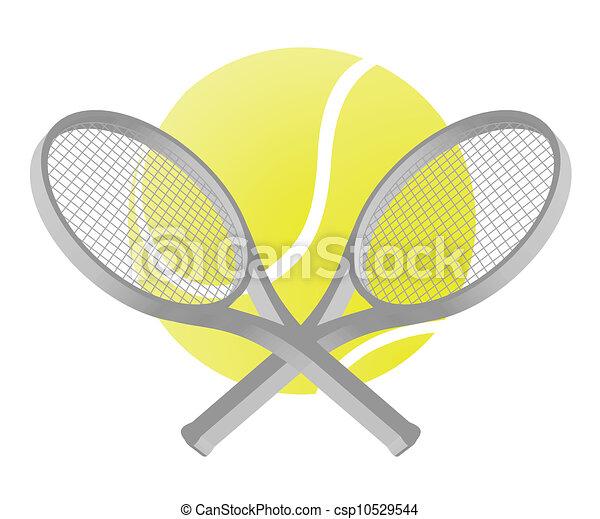 Ilustración de tenis - csp10529544