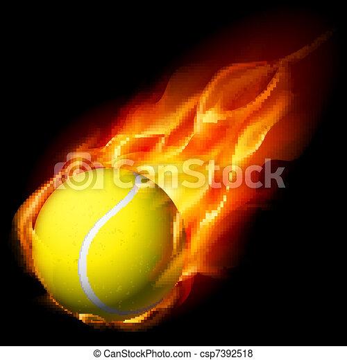 Una pelota de tenis - csp7392518