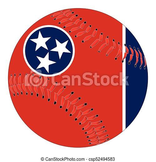 Tennessee Flag Baseball - csp52494583