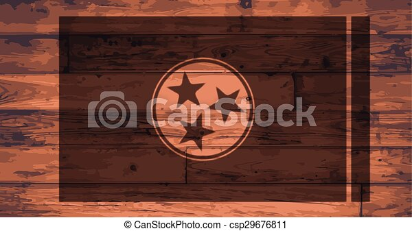 Tennessee Flag Brand - csp29676811