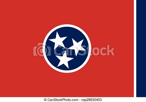 Tennessee Flag. - csp28630453