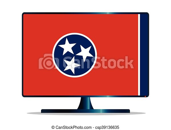 Tennessee Flag TV - csp39136635