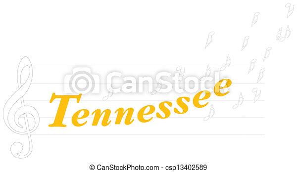 Tennessee illustration - csp13402589