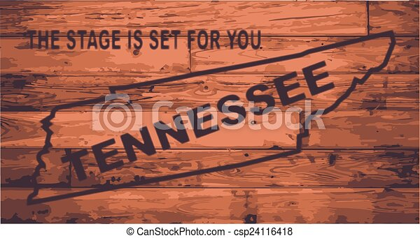 Tennessee Map Brand - csp24116418