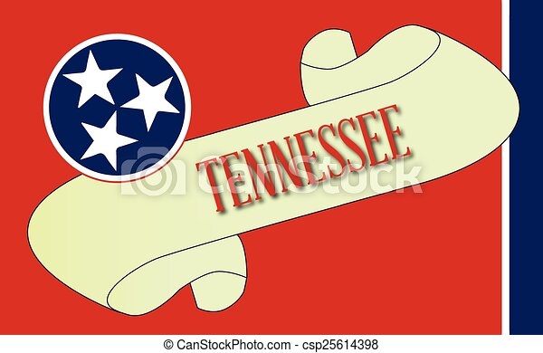 Tennessee Scroll - csp25614398
