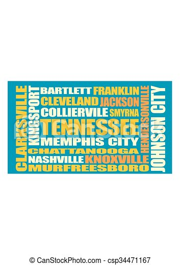 Tennessee state cities list - csp34471167