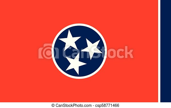 Tennessee state flag - csp58771466
