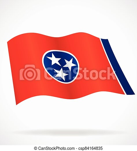 tennessee tn state flag flying vector - csp84164835