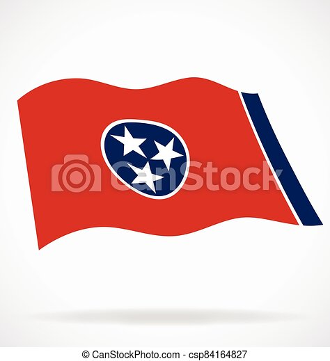 tennessee tn state flag flying vector - csp84164827