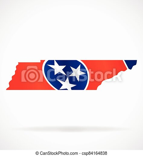 tennessee tn state flag map vector - csp84164838