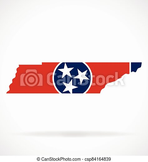 tennessee tn state flag map vector - csp84164839