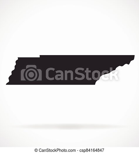 tennessee ts map shape simplified vector - csp84164847