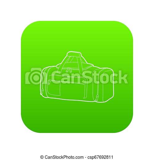 Tennis bag icon green - csp67692811
