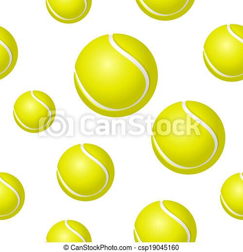 Tennis ball background - csp19045160