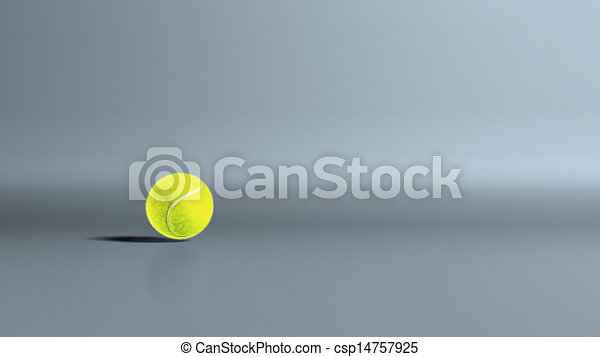 Tennis Ball Bouncing On The Grey Floor