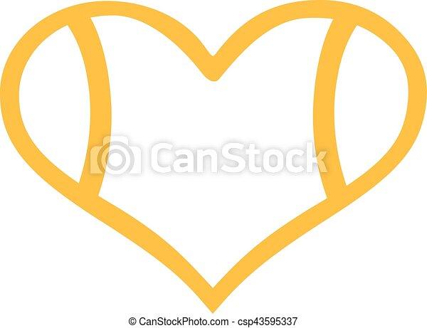 tennis ball heart outline vectors search clip art illustration rh canstockphoto com Cute Tennis Clip Art Tennis Ball Clip Art