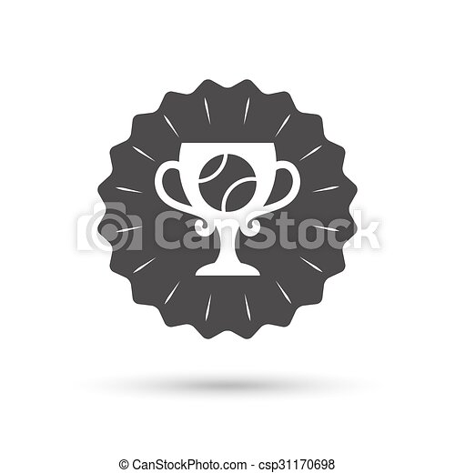 Tennis ball sign icon. Sport symbol. - csp31170698