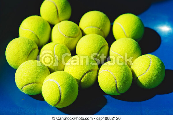 Tennis Balls Background A Lot Of Tennis Balls On Blue Background