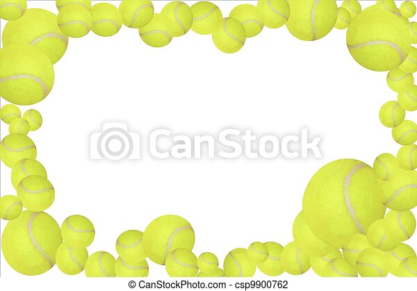 Tennis Balls Frame Easy To Edit