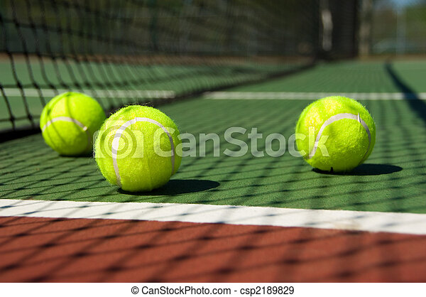 Tennis balls on Court - csp2189829