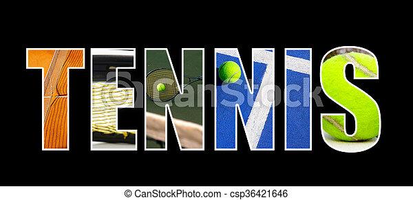 Tennis collage concept - csp36421646